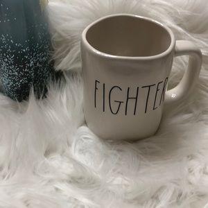"Rae Dunn ""FIGHTER"" coffee mug NEW"